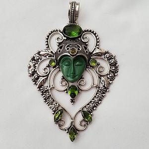 Goddess Pendant/Peridot .925